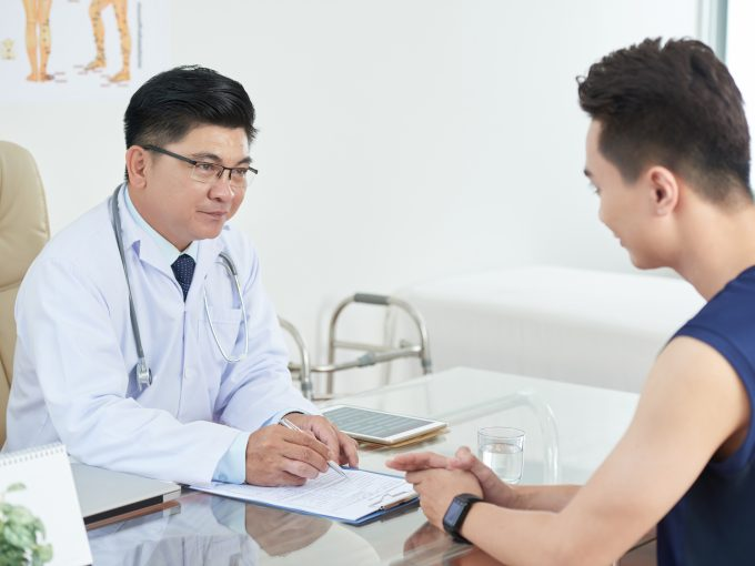 asian man consulting with doctor AUJN397